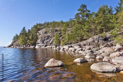 Fotografia, Obraz Lake Ladoga skerries. Karelia. Russia
