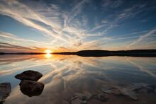Sonnenuntergang Am Großen Brombachsee