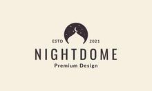 Night With Dome Mosque Logo Symbol Vector Icon Illustration Graphic Design