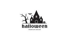 Scare Home Halloween Logo Symbol Vector Icon Illustration Graphic Design