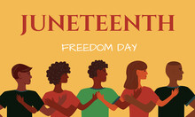 Juneteenth Independence Day. Annual American Holiday, Celebrated In June 19. African-American History And Heritage Illustration. Freedom Or Emancipation Day.