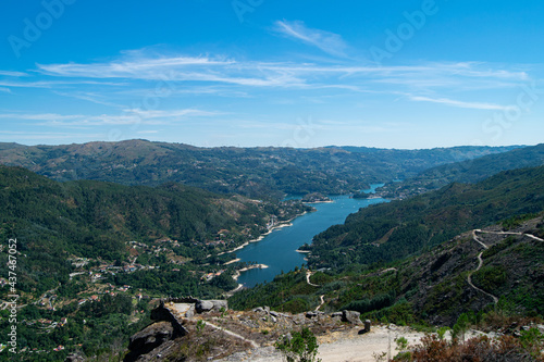 Gerês Landscape, moutains and river view from high point