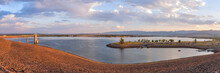 Chatfield Reservoir - A Panoramic Overview Of Chatfield Reservoir On A Late Summer Evening. Chatfield State Park, Denver-Littleton, Colorado, USA.