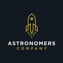 Astronomers Logo Design Premium Concept