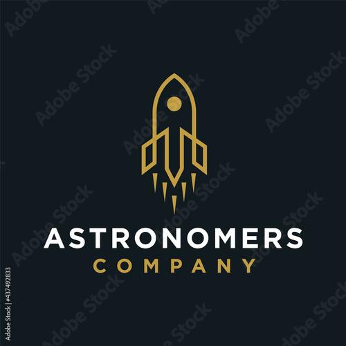 Canvas Astronomers logo design premium concept