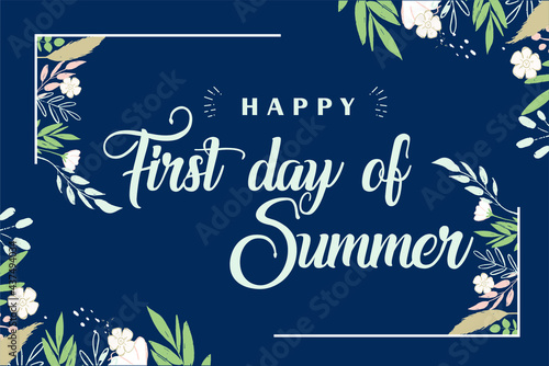 Papel de parede First day of summer holiday in june celebrate