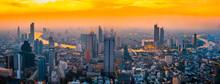 Aerial View Of Bangkok City In Thailand