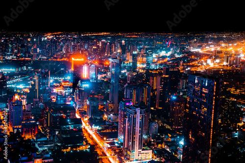 Bangkok, Thailand, Aerial view of Bangkok city in Thailand