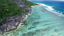 Seychelles La Digue Island Anse Source Dargent Beach Coral Bar And Granite