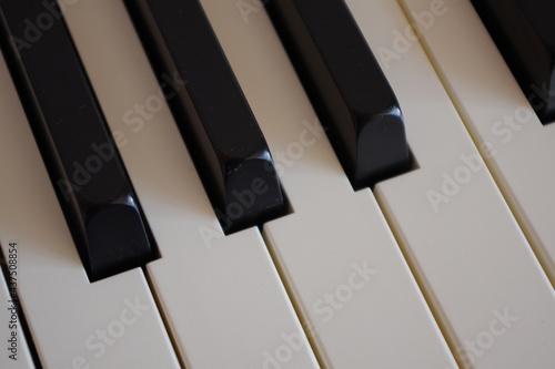 Piano black and white keyboard