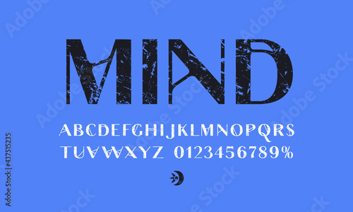 Obraz na plátně Decorative sans serif font in spiritualism style