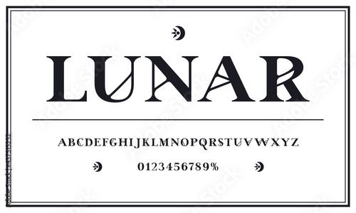 Fotografie, Obraz Decorative serif font in spiritualism style