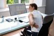 Leinwandbild Motiv Back Pain And Bad Posture Stress