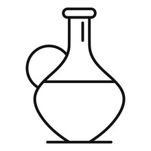 Oil Jug Icon, Outline Style