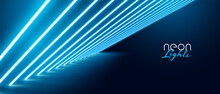 Blue Neon Light Effect Banner Design
