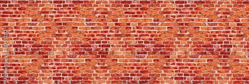 Fotografie, Obraz Brick wall with red brick, red brick background.