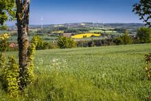 Schevelsteiner Hochebene Im Weserbergland Sonnig