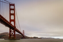 Golden Gate Bridge In San Francisco On A Stormy Day