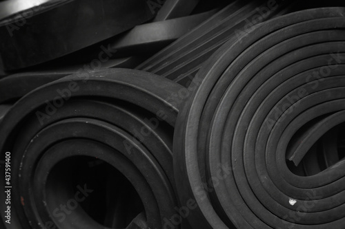 Fototapeta Close-up rubber sealing strips for waterproof doors