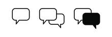 Chat Vector Icon. Talk Bubble Speech Icon. Blank Empty Bubbles Vector Design Elements.