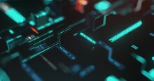 High Speed Connection And Data Analysis Technology Digital Abstract Background Concept. Motion Of Digital Data Flow. Dynamic Wave. Big Data Visualization. 4K Loop, 3D Rendering