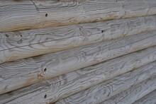 Zdjęcie Tekstury Przedstawiające Bale Drewna Ułożone Poziomo