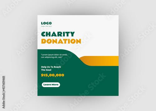 Fototapeta Charity social media post design