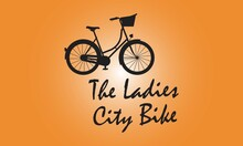 The Ladies City Bike Design Bicycle Lover City Bike Vector Design.