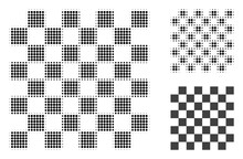 Chess Board Halftone Dotted Icon. Halftone Pattern Contains Circle Pixels. Vector Illustration Of Chess Board Icon On A White Background.