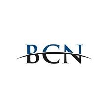 BCN Initial Swoosh Horizon, Letter Logo Designs Corporate Inspiration