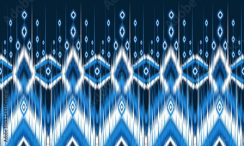 Canvas Print Ikat geometric folklore ornament with diamonds