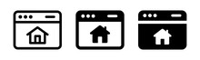 Homepage, Real Estate Website Icon Vector On White Background.