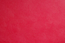 Red Fine Texture Of Genuine Leather. Natural Expensive Products