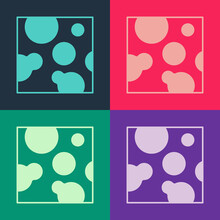 Pop Art Cheese Icon Isolated On Color Background. Vector