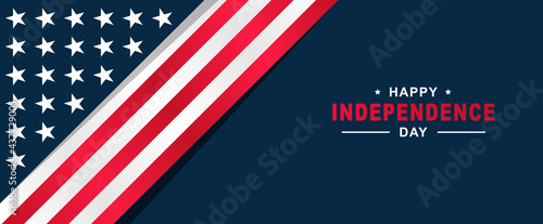 Tablou Canvas 4th of July Happy Independence Day of United States of America with American Fla