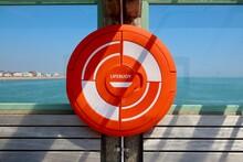 Lifebuoy Preserver On Pier In Deal, Kent