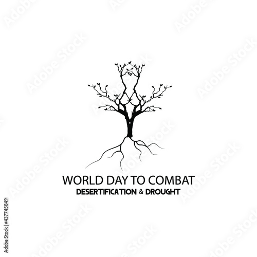 Tela world day to combat desertification and drought web banner design
