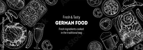 Canvastavla German food menu sketches