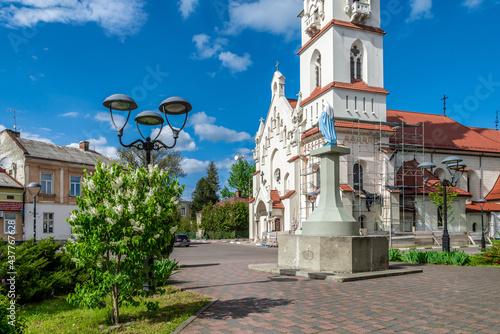 Fotografie, Obraz Stryi, Ukraine - May, 2021: Church of Our Lady Protectress, Polish Roman Catholic Church in Stryi, Prykarpattia region, Lviv Oblast, Ukraine