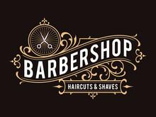 Barbershop Vintage Ornamental Logo