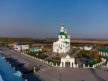 Yalutorovsk, Russia - May 7, 2021: Sretensky Cathedral. Church Was Demolished At 1931. It Is Newly Restored In 2009. Siberia