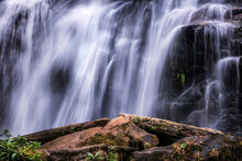 Pha Dok  Seaw Waterfall Or Rak Jang Waterfall In Doi Inthanon National Park,Thailand,Most Famous In Thailand