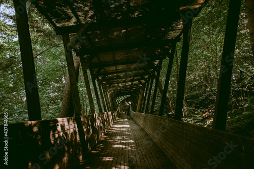 Old and abandoned wooden bobsleigh and luge track in Murjani, Latvia Fototapeta