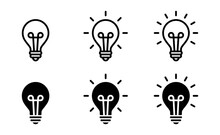 Light Bulb Icon, Lamp Symbol Icon Vector