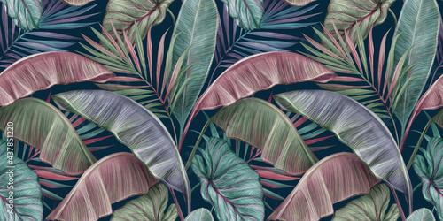 Fototapeta Tropikalne luksusowe egzotyczne liście