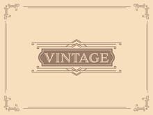Vintage Background In Beige Color.