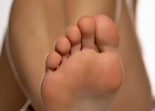 Close Up Of A Female Toes