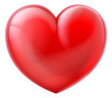 Heart 3D Cartoon Glossy Emoticon Emoji Icon