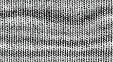 Distressed Fabric Texture. Vector Texture Of Weaving Fabric. Grunge Background. Abstract Halftone Vector Illustration. Overlay For Interesting Effect And Depth. Black Isolated On White Background