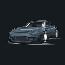 Jdm Car Vector Illustration